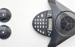 Ip-telefon - konferensapparat Arkivbilder
