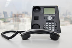 Ip-telefon - kontorstelefon Arkivfoton