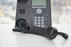 Ip-telefon - kontorstelefon Arkivfoto