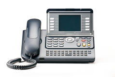 IP Telephony. VOIP telephone isolated on white backgound Royalty Free Stock Photography