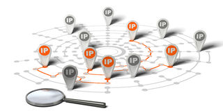 IP Tracking Stock Photo