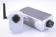 IP video cameras. At different projection Royalty Free Stock Image