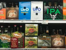 IPA Beers at a Grocery Store.  royalty free stock photo