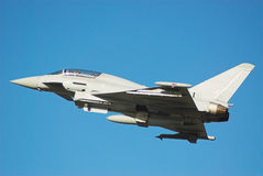 IPA Eurofighter. Trail Eurofighter Typhoon carrying out trials Royalty Free Stock Photo