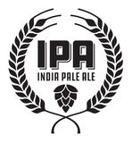 IPA or India Pale Ale Badge or Label. Royalty Free Stock Photo