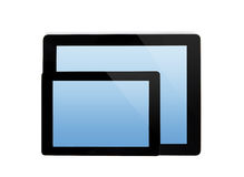 Ipad片剂和微型ipad片剂 免版税库存图片