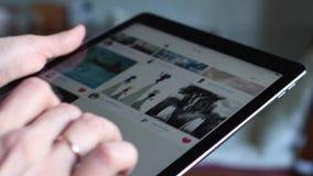iPad的Instagram客户 股票录像