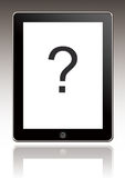 Ipad με ένα ερωτηματικό Στοκ φωτογραφία με δικαίωμα ελεύθερης χρήσης