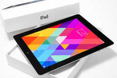 IPad 4 με iOS 7 Στοκ εικόνες με δικαίωμα ελεύθερης χρήσης