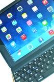 iPad πληκτρολόγιο Στοκ Φωτογραφίες