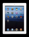 IPad 2. The new iPad 2 isolated on black background royalty free stock photos