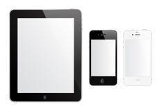 IPad 2 en iPhone 4S Royalty-vrije Stock Foto's