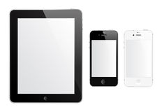 IPad 2 et iPhone 4S Photos libres de droits