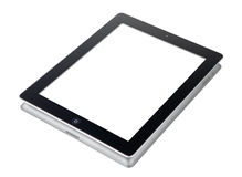 Ipad 2 isolated and clipping path. Ipad 2 on white desk with clipping path Stock Photography