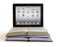 Ipad 3 on books Royalty Free Stock Photography