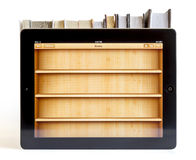 Ipad 3 with Books application Royalty Free Stock Image