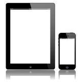 iPad 3 and iPhone 5 black vector royalty free illustration