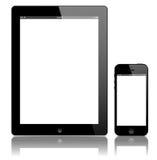 iPad 3 y vector negro del iPhone 5