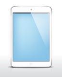 Διανυσματικό μίνι λευκό iPad Στοκ Φωτογραφία
