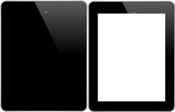 IPad 4. Tablet Pc With White And Black Background Isolated On White