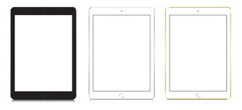 IPad Air 2 in black, white and gold color. Stock Photos