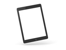 IPad Air isolated. IPad Air black on a flat surface 3D illustration execution isolated on a white background with reflection and shadow royalty free stock photo