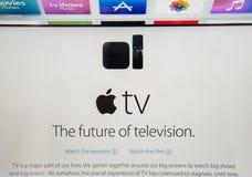 IPad d'ordinateurs Apple nouvel pro, iPhone 6s, 6s plus et Apple TV Images libres de droits