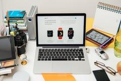 IPad dei calcolatori Apple nuovo pro, iPhone 6s, 6s più e Apple TV Immagine Stock