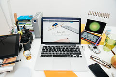 IPad dei calcolatori Apple nuovo pro, iPhone 6s, 6s più e Apple TV Immagini Stock