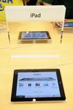 Ipad display in Apple store Royalty Free Stock Photography
