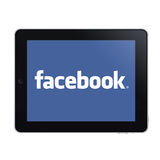 Ipad e facebook Fotografia Stock