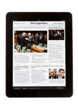 IPad Edition of The New York Times Newspaper Stock Images