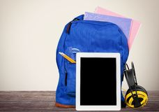 Ipad. Education Backpack Back to School Technology Classroom Learning Royalty Free Stock Photo