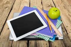 Ipad. Education Book Textbook Classroom Homework Studying Stock Image