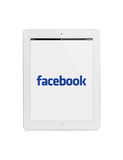 Ipad facebook royalty-vrije illustratie