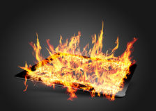 Ipad flame Stock Photo