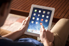 IPad in hand Royalty Free Stock Photography