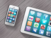 Ipad and iphone Royalty Free Stock Photo