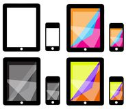 Ipad and IPhone Vector Illustration Set Stock Photography