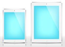 IPad kortkort & iPad - blå skärm Arkivfoton