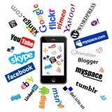 ipad logów sieci socjalny Fotografia Stock