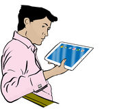 Ipad man Stock Images