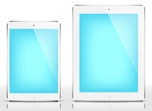IPad mini & iPad - blue screen. Vector illustration royalty free illustration