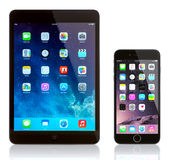 IPad Mini und iPhone 6 Stockfoto