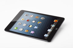 IPad mini on white background Royalty Free Stock Photos
