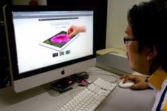 iPad neuf 2012 d'Apple - le troisième génération Photographie stock libre de droits
