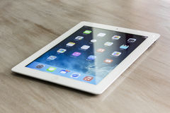 Ipad with new ios 7 Stock Image