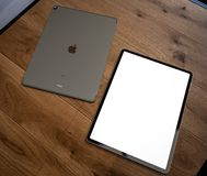 IPad Pro 2018 with blank screen royalty free stock photography