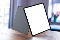 IPad Pro 2018 with blank screen royalty free stock image