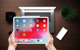 IPad pro una nuova versione della compressa da Apple immagini stock